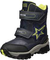 Geox Boy's J LT HIMALAYA B ABX A Snow Boots, Navy/Lime
