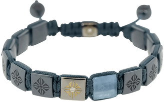 Shamballa Aquamarine Blue Ceramic Lock Bracelet
