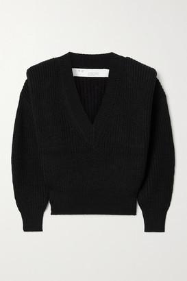 IRO Misty Ribbed-knit Sweater - Black