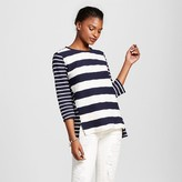 Merona Women's Mixed Stripe Structured Top