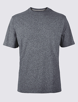 M&S Collection Pure Cotton Textured Crew Neck T-Shirt