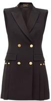 Versace Double-breasted Crepe Tuxedo Mini Dress - Womens - Black