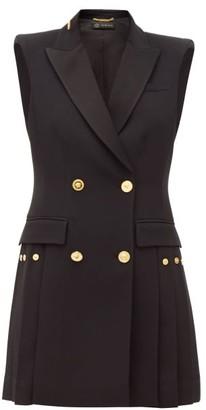 Versace Double-breasted Crepe Tuxedo Mini Dress - Black