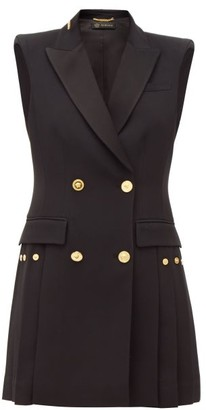 Versace Double-breasted Crepe Tuxedo Mini Dress - Womens - Black