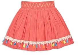 Peek Kids Girls' Bonita Tassel Trim Striped Skirt - Toddler, Little Kid, Big Kid