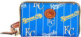 Dooney & Bourke MLB Nylon Royals Zip AroundPhone Wristlet