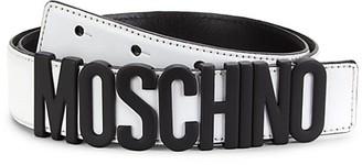 Moschino Matte Logo Leather Belt