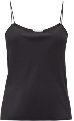The Row Biggins Silk-strap Crepe Camisole - Womens - Black