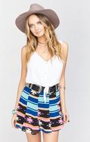 MUMU Skater Mini Skirt ~ Aztec