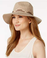 INC International Concepts Faux-Suede Stitch Fedora, Created for Macy's