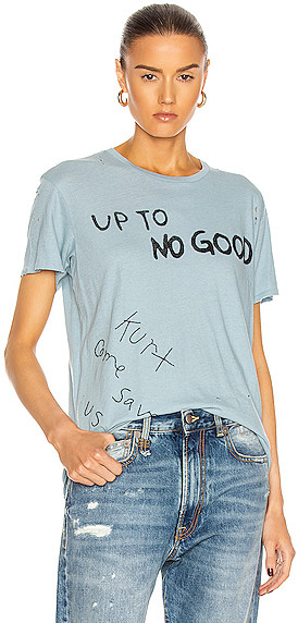 R 13 Up to No Good Boy Tee in Blue