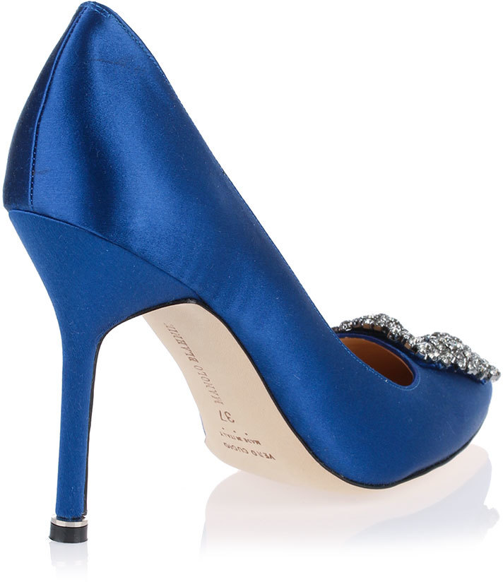 Manolo Blahnik Hangisi satin pump Royal Blue