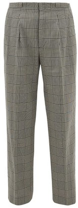 King & Tuckfield - Grant Checked Straight-leg Cotton Trousers - Mens - Grey