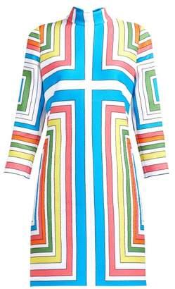 Emilia Wickstead Melodie Cloque Geometric Dress - Womens - Multi