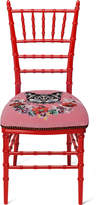 Gucci Chiavari chair with embroidered cat