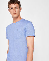 Ted Baker Jacquard crew neck cotton Tshirt