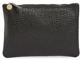 Clare Vivier 'Supreme' Leather Zip Clutch - Black