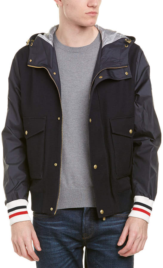 Moncler Wool Down Hooded Bomber Jacket