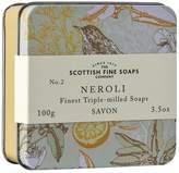 Scottish Fine Soaps Neroli Bar Soap in Vintage Bird Tin by 100g Bar)