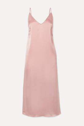 Skin Rosamonde Stretch-silk Satin Chemise - Antique rose