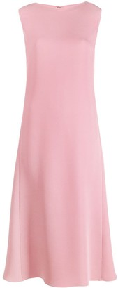 Valentino Pleated Sleeveless Midi Dress