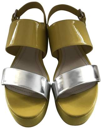 Christian Dior Yellow Patent leather Sandals