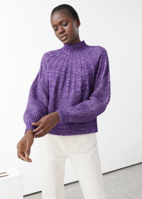 And other stories Alpaca Wool Blend Mock Neck Sweater