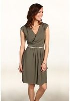 Anne Klein Knit Dress w/ Skirt Draping Women's Dress