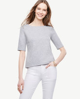 Ann Taylor Doubleface Boatneck Tee