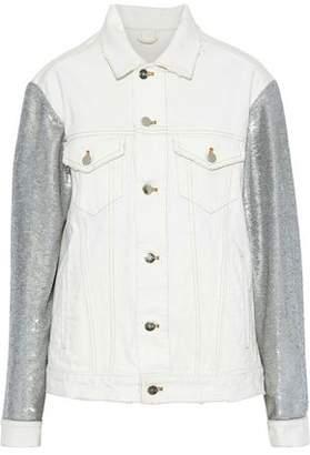 IRO Nanopo Sequin-paneled Denim Jacket