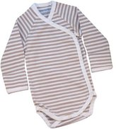 Under the Nile Side Snap Long Sleeve Babybody (Tan Stripe) - NB-3 months by