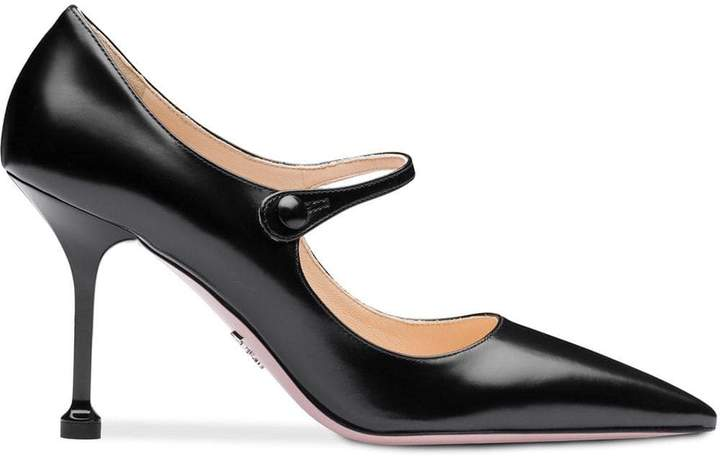 Prada pointed toe Mary Jane pumps