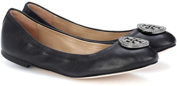 Tory Burch Liana leather ballerina shoes