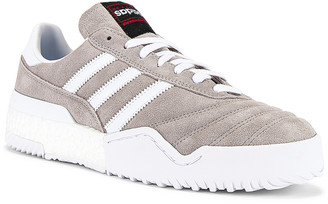 Adidas Originals By Alexander Wang Bball Soccer Sneaker in Clear Granite & Core White | FWRD