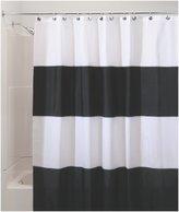 InterDesign Zeno Waterproof X-Long Shower Curtain, Black