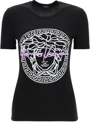 Versace MEDUSA GV SIGNATURE SLIM T-SHIRT 42 Black, White, Purple