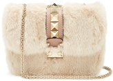 Valentino Lock small mink-fur shoulder bag