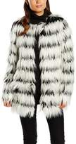 Noisy May Women's Duo Long Sleeve Faux Fur Jacket