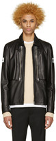 Hood by Air Black Leather Double Zip Shirt