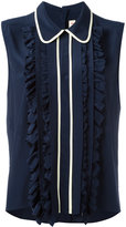 Marni sleeveless ruffle blouse - women - Silk/Acetate - 42