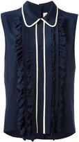 Marni sleeveless ruffle blouse