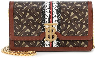 Burberry Carrie TB leather shoulder bag