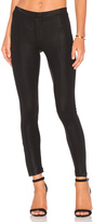 Heather Coated Skinny Ankle Zip Pant