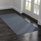 "Crate & Barrel Thirsty Dots TM Slate 30""x71"" Doormat"