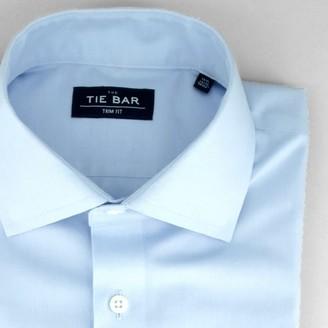 Pinpoint Solid Light Blue Non-Iron Dress Shirt