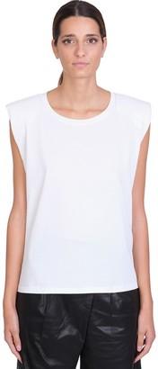 Laneus T-shirt In White Cotton