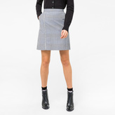 Paul Smith Women's Black And White Gingham Skirt