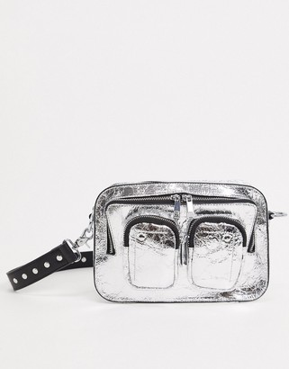 Nunoo Ellie Cool cross body bag in silver