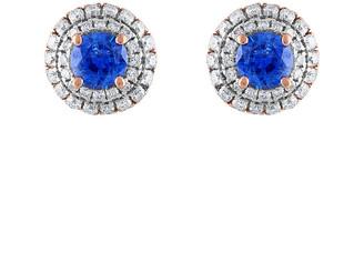 Heritage 18K Rose Gold 1.40 Ct. Tw. Diamond & Sapphire Earrings
