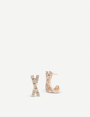 THE ALKEMISTRY Dana Rebecca Ava Bea 14ct rose-gold and diamond mini huggies earrings